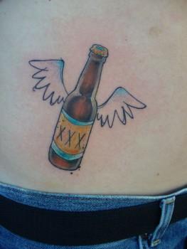 beer bottle tattoos images galleries with a bite. Black Bedroom Furniture Sets. Home Design Ideas